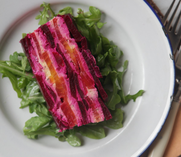 Beet and Feta Terrine