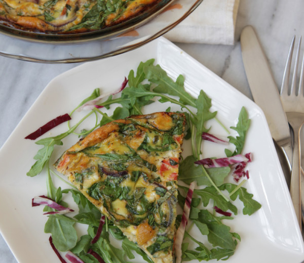 Tomato, Basil, and Spinach Frittata