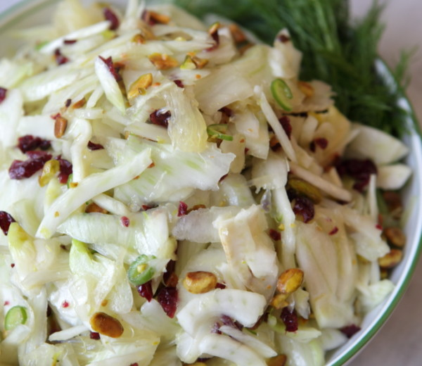 Fennel Salad with Pistachios, Dried Cranberries & Citrus Segments