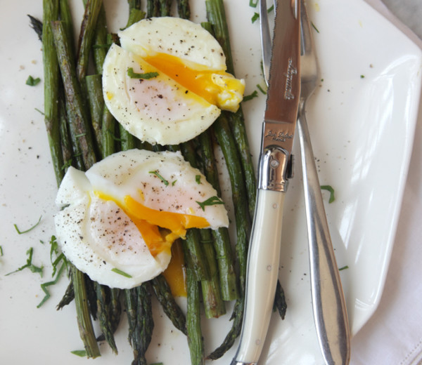 Roasted Asparagus & Poached Eggs