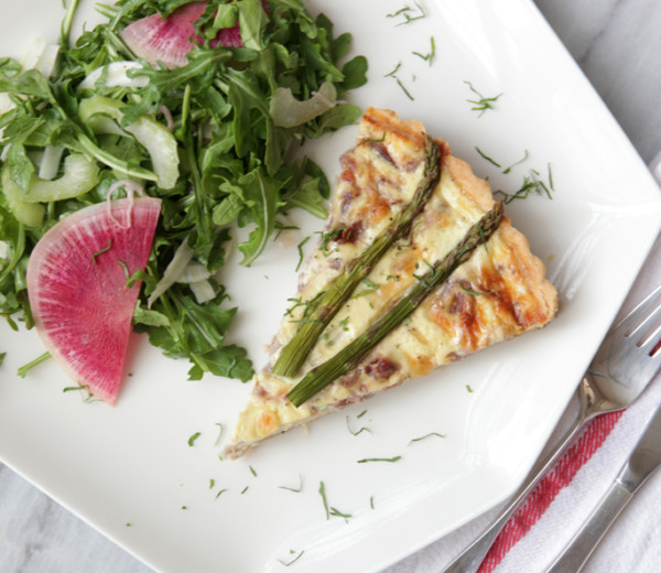 Savory Pecorino Quiche with Wild Arugula Salad
